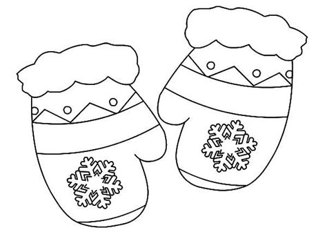 Beautiful Ideas Mitten Coloring Pages M Is For Mittens