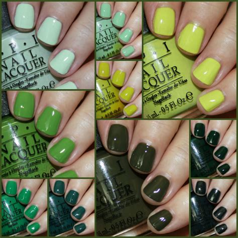 favorite green opi nail lacquer colors vampy varnish