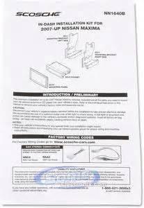 scosche nn1640b single din w pocket or double din installation With scosche amp wiring kit installation