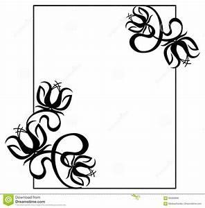 Cadre Deco Noir Et Blanc : cadre noir et blanc avec des silhouettes de fleurs image stock image du cadre baroque 85060969 ~ Melissatoandfro.com Idées de Décoration