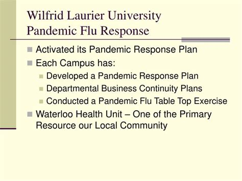 Pandemic Preparedness Plan Template by Ppt Pandemic Influenza Awareness H1n1 2009 Powerpoint