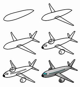 Drawing a cartoon airplane