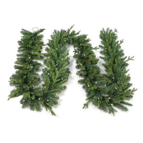 home accents holiday 12 ft pre lit norway garland with