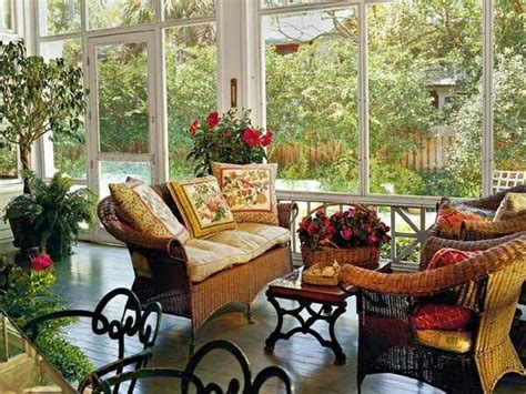 Screened Porch Decorating Ideas by Country Porch Ideas For The House