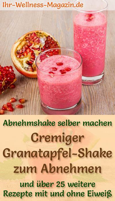 granatapfel shake smoothie abnehmshake zum selber machen