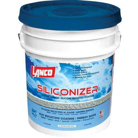 5 Gal Silicone Acrylic Roof Sealer Waterproof Reflective