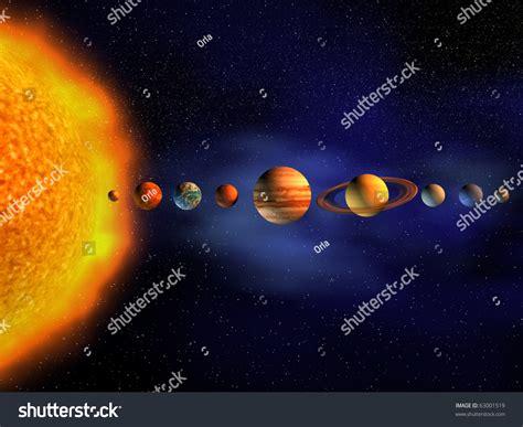 Diagram Planets Solar System Render Stock Illustration