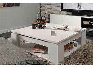 Table Carrée Blanche : table basse carr e blanche casa ~ Teatrodelosmanantiales.com Idées de Décoration