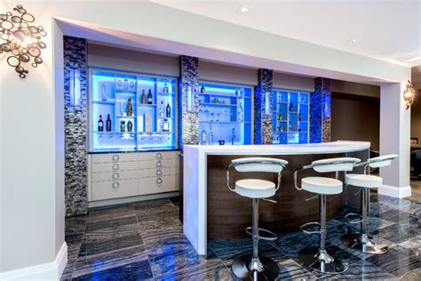 17 Incredible Contemporary Home Bar Designs You're Going
