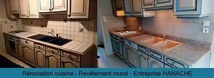 renovation cuisine plan de travail granit et revetement With plan de travail mural cuisine