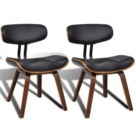 chaise de salon design 2 chaises de cuisine salon salle à manger design noir bois