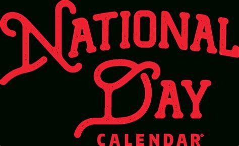 list  national days  printable  calendar