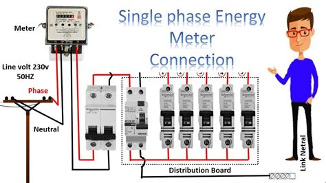 Single Phase Meter Wiring Diagram Energy
