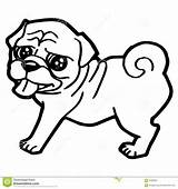 Coloring Dog Cartoon Pages Pug Funny Puppy Drawing Outline Illustration Whippet Vector Greyhound Husky Sheet Pals Printable Consequences Accepting Puppies sketch template
