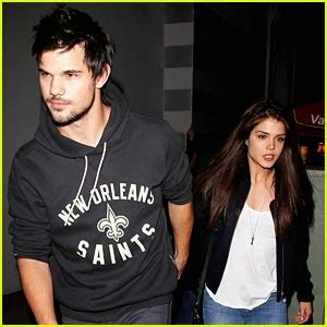Taylor Lautner Shows Adorable PDA With Girlfriend Marie ...
