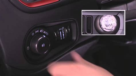 jeep renegade headlight switch youtube
