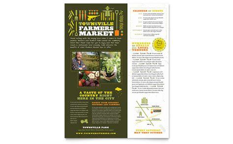 farmers market flyer template design