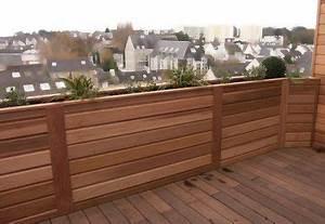 bac a fleurs en red cedar balcon terrasse pinterest With nice decoration jardin exterieur maison 13 cuisine formica rouge