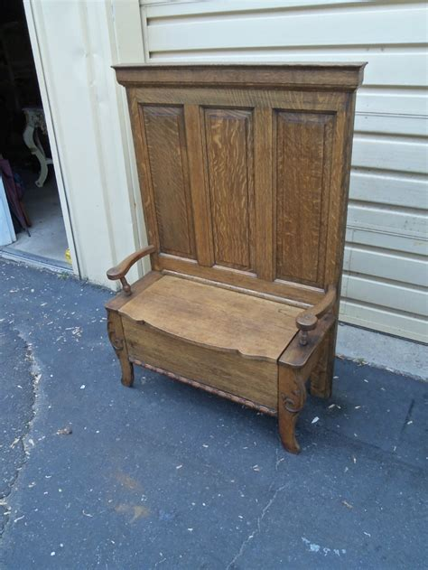 Settee Bench Seat by 50045 Antique Solid Oak Bench Seat Chair Settee With