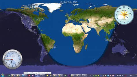 world clock map blog