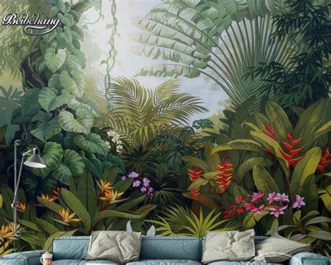 Aliexpresscom  Buy Beibehang Hand Painted Tropical