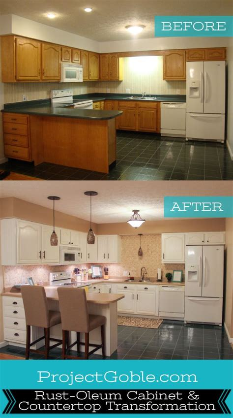 rustoleum kitchen makeover kitchen transformation white cabinets painted counters 2071