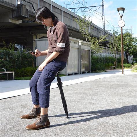 chaise japonaise une société japonaise invente le parapluie chaise dozodomo