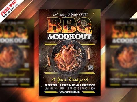 bbq party flyer template psd psdfreebiescom