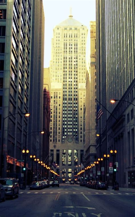 chicago ground view street android wallpaper