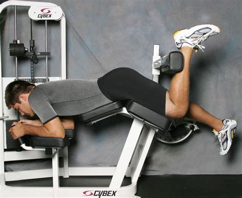 single leg hamstring curl  pad ankle placement