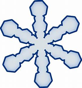 Simple Snowflake Clip Art at Clker.com - vector clip art ...