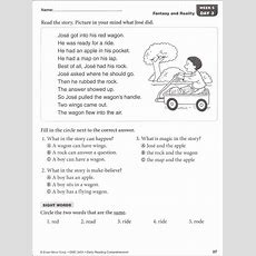 Daily Reading Comprehension Grade 1  Activities For Kids  Reading Comprehension Grade 1