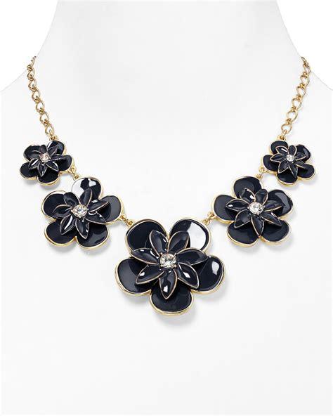 2033 kate spade flower necklace kate spade graceful floral graduated necklace 18 in blue