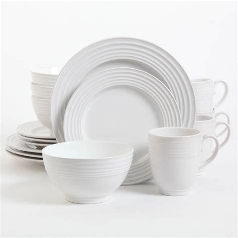 best white dishes gibson home stanza 16 dinnerware set white ebay