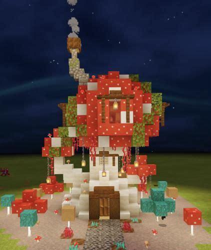 mushroom house  botcraftnet minecraft crafts minecraft designs minecraft creations