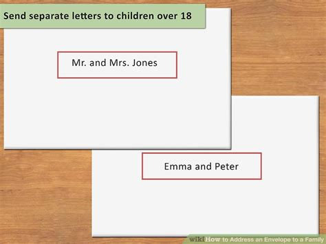how to address an envelope to a family 3 ways to address an envelope to a family wikihow