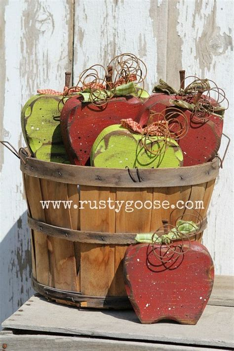 Apple Decor Fall Decor Primitive Apple By Therustygoose On