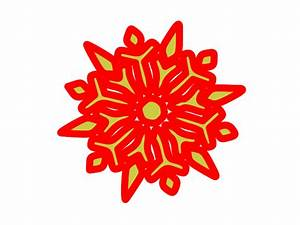 Red And Green Snowflake Clipart (34+)