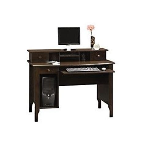 walmart com sauder computer desk with hutch dark alder