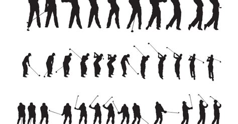 DOMAWE.net: Tiger Woods Golf Silhouette Vector Download Free