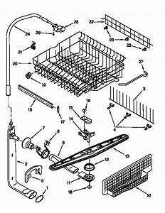 Dishracks And Spray Arm Assembly Diagram  U0026 Parts List For