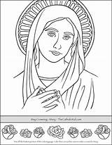 Coloring Crowning Mary Catholic Printable Bible Adult Saint Children Crafts Thecatholickid Jesus Sunday Foil Kid sketch template