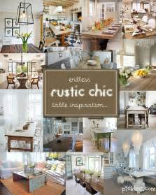 rustic dining room decorating ideas 14 fabulous rustic chic dining tables inspiration picklee