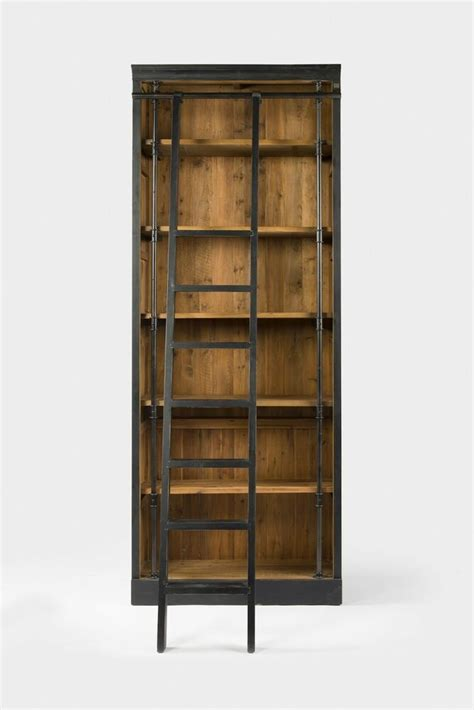 Library Bookcase Ladder by 102 Quot H Bookcase Ladder Black 1940 Library Iron Brass
