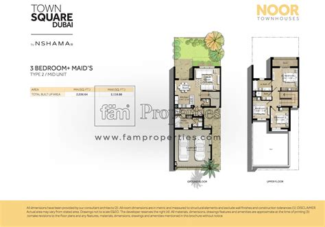 4 bedroom townhouse floor floor plans noor townhouses town square by nshama