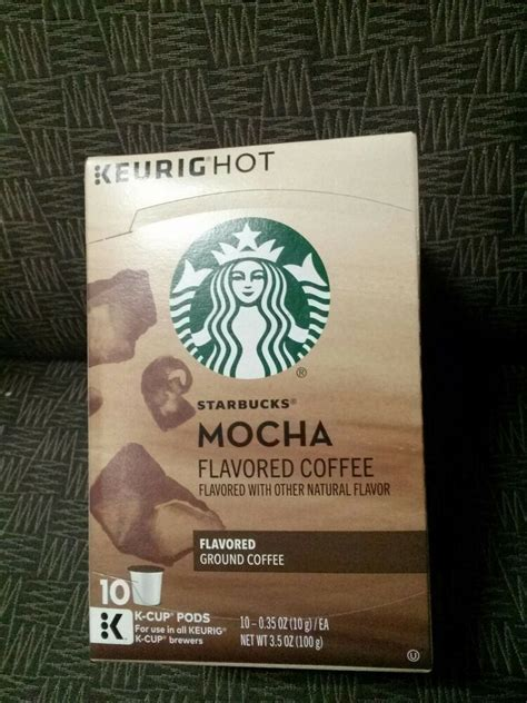 The starbucks® medium roast beans balanced with luscious caramel notes create a treat you can savor and share. Starbucks Mocha Keurig K-Cup 1 Box of 10 K-Cups Flavored Ground Coffee #Starbucks in 2019   K ...