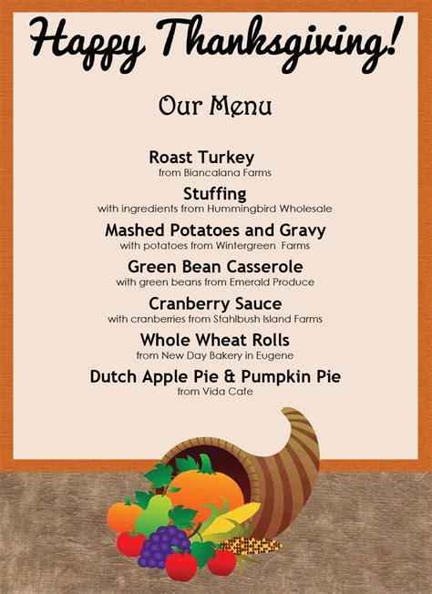 awesome thanksgiving menu templates templatelab