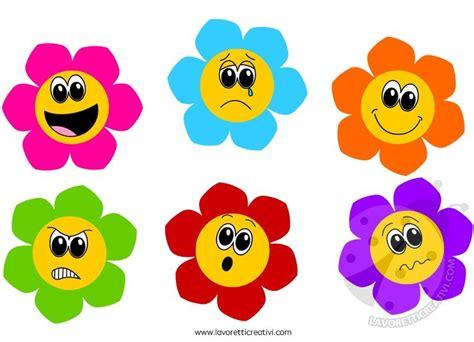 disegni con fiori colorati fiori colorati con differenti emozioni lavoretti creativi