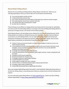 Manual Billing Vs Billing Software