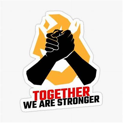 Stronger Together Sticker Stickers Redbubble
